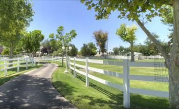 The pasture path.
