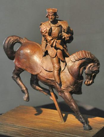"The first bronze casting of Leonardo da Vinci's original ""Horse and Rider"" wax sculpture."