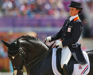 The Netherlands Anky van Grunsven,sixth overall on Salinero, who, like Steffen Peters' Ravel, is to be retired.