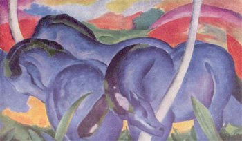 Franz Marc, Large Blue Horses (1911)