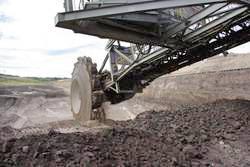 Excavator at the Schöningen lignite mine, August 2012. Photo: Jordi Serangeli, University of Tübingen.