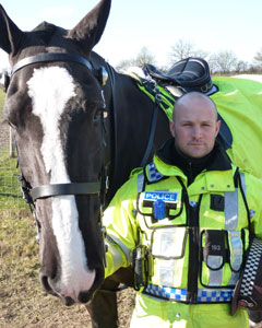 Essex Mounted Unit Sgt Chris Downes and King.