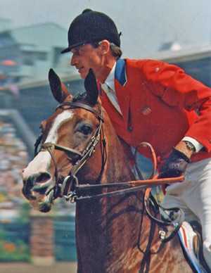 Joe Fargis and Touch of Class during their memorable gold medal performance at the 1984 Olympic Games in Los Angeles.