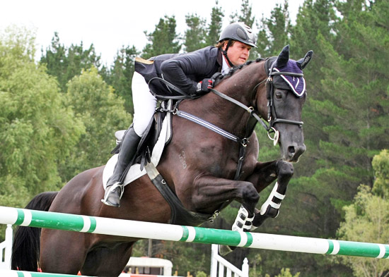 Billy Raymont and Stardom win the Senior Horse Championship in Canterbury yesterday.