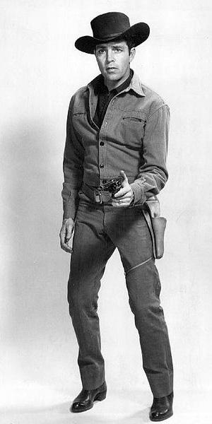 Dale Robertson as Jim Hardie in Tales of Wells Fargo, from 1957.