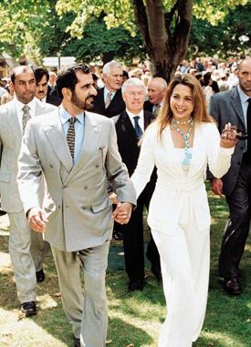 Sheikh Mohammed bin Rashid Al Maktoum and Princess Haya.