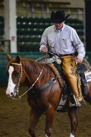 Zach Iddings, riding the high-seller, was named an outstanding young alumnus of the CSU Equine Sciences Program.