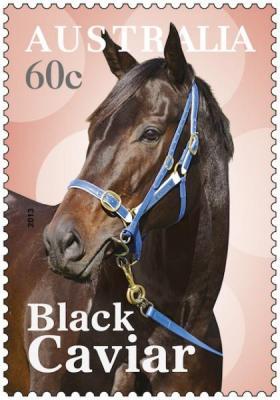 The Black Caviar stamp.