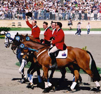 Australia's Sydney 2000 gold medal winning eventing team,