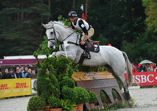 Andrew Nicholson and Mr Cruise Control, pictured at the HSBC Complex, sailed into the lead after the cross-Country at Luhmühlen CCI4*, presented by DHL Paket © Kit Houghton/FEI