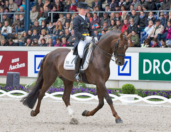 Helen Langehanenberg and Damon Hill FRW led the German team to victory in the third leg of the FEI Nations Cup Dressage series at Aachen.