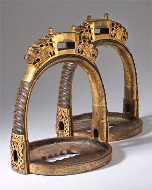 Chinese stirrups from the Ming Dynasty (16th century).