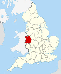 Location of Shropshire in England.
