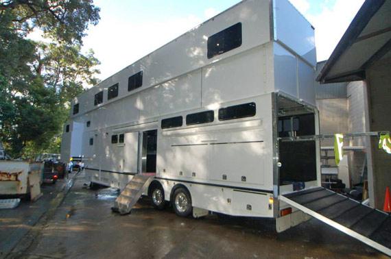 Rivenlee Floats' three-storey horse truck.