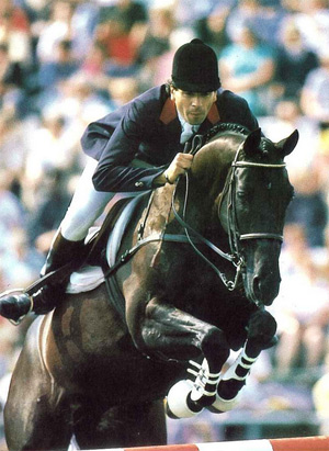 Pierre Durand and Jappeluop at the 1988 Seoul Olympics. © FEI
