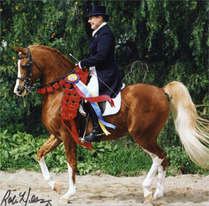 Cal Dorado with Hilda Gurney after winning his National Championship in Prix St. Georges.