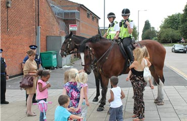 On the beat in the Avon and Somerset area. Photo: Avon and Somerset Constabulary.