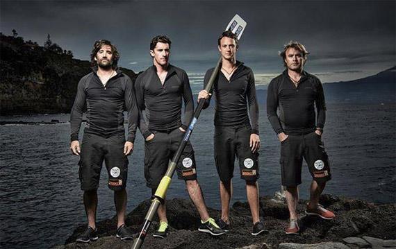 The Atlantic Polo Team, from left, Henry Brett, Bobby Melville, Fergus Scholes, and James Glasson.
