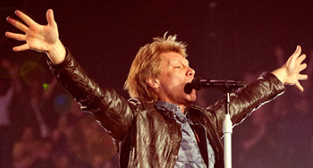 Jon Bon Jovi performing at The Century Link Center in Omaha earlier this year.