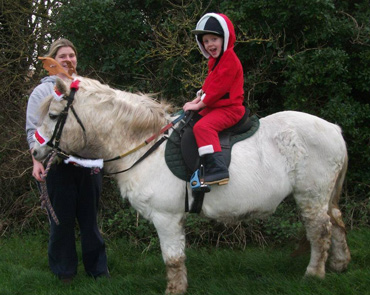 Josh on a Christmas ride with Tic Toc last year.