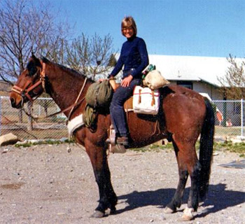 """In 1973 Lucy Leaf set off on a 7,000 mile journey aboard a non-pedigreed horse named Igor. The duo travelled a northern route across the country from Maine to Oregon and then returned from California to Virginia via a southern route. Despite having led a very vigorous outdoor life, in 2011 a tick bite devastated Lucy's health. Unmanageable pain spread from the tick bite across her body. The constant agony destroyed her appetite, kept her awake for days and eventually caused her to black out. She warned other Long Riders, """"Having enjoyed good health all my life (and taken it for granted, no doubt) I'm amazed how quickly my health, which seemed prime only weeks ago, has gone completely south."""""""