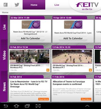 """The new """"FEI TV on the go"""" app."""