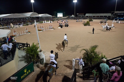 A team of riders enters the arena during the FTI GCC.