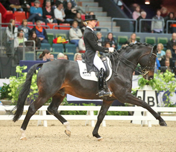 Germany's Jessica von Bredow-Werndl and Unee BB stormed to victory in style at the seventh leg of the Reem Acra FEI World Cup™ Dressage Western European League in Gothenburg, Sweden today.  © FEI/Roland Thunholm