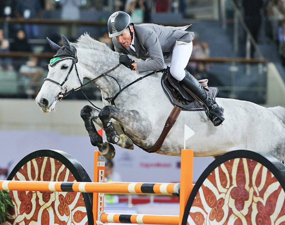 Showjumping Grand Prix winner Ludger Beerbaum and Chiara.