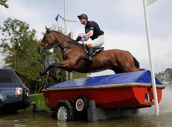 William Fox-Pitt, joint leader of the FEI Classics, and Seacookie TSF at Burghley. The combination finished second in Kentucky last year.