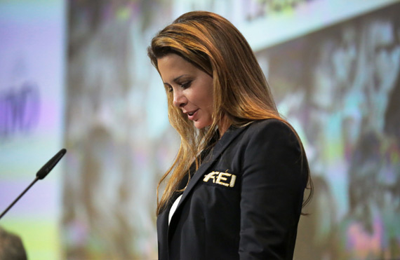 FEI President Princess Haya, on opening the 2014 FEI Sports Forum at the IMD business school in Lausanne, Switzerland, yesterday, said the forum came at an exciting but challenging time for horse sports.