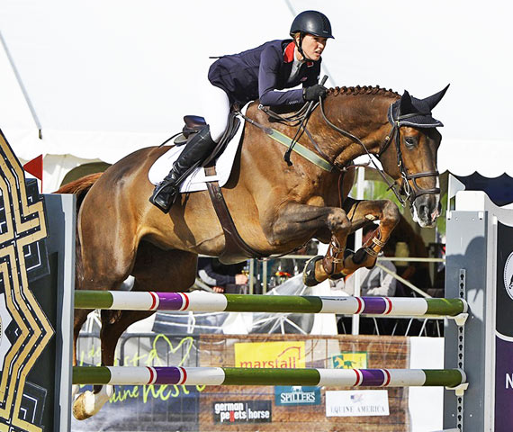 Holly Gillott and Dougie Douglas helped the British team to victory at the second leg of the Furursiyya FEI Nations Cup Jumping 2014 Europe Division 2 League at Odense, Denmark.