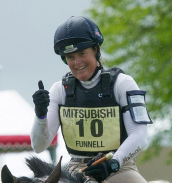 Pippa Funnell was thrilled to get around on Billy Beware, and finish in  sixth place.  © Badminton Horse Trials