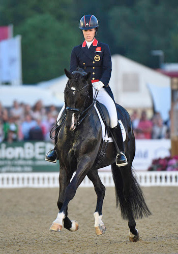 Charlotte Dujardin and Uthopia won the freestyle with 83.675%.