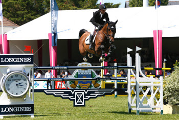 Eric Lamaze and Powerplay winning the €200,000 Grand Prix of La Baule on Sunday.