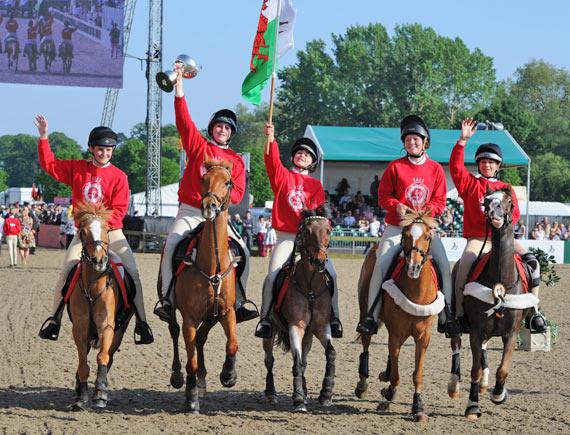 DAKS Pony Club Mounted Games winners, Wales.
