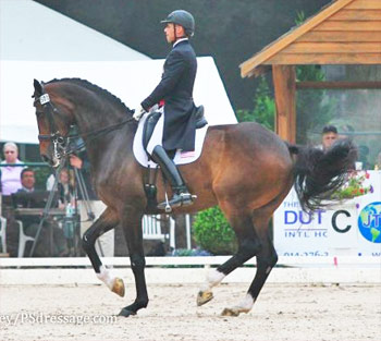 Steffen Peters and Legolas 92 at the US Dressage Festival of Champions in Florida at the weekend.