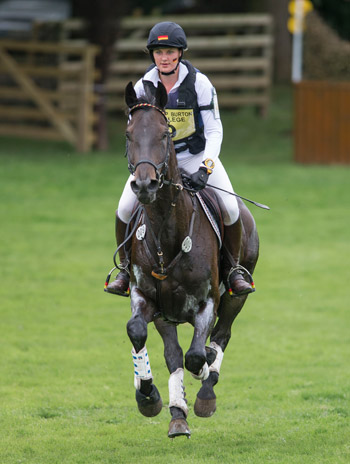 German team member Rebecca-Juana Gerken and Scipio S, who moved up from eighth after dressage to fifth following a clear cross-country round.