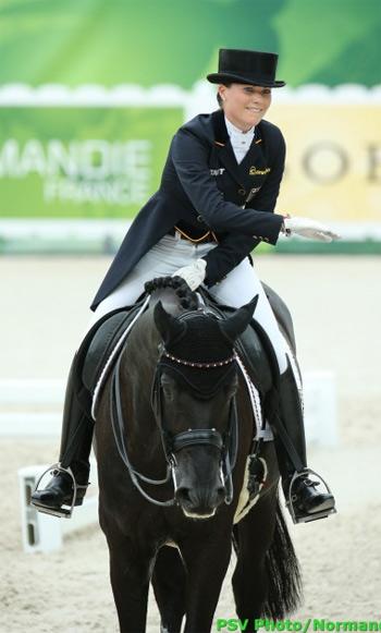 Bronze medalist Kristina Sprehe and Desperados FRH.