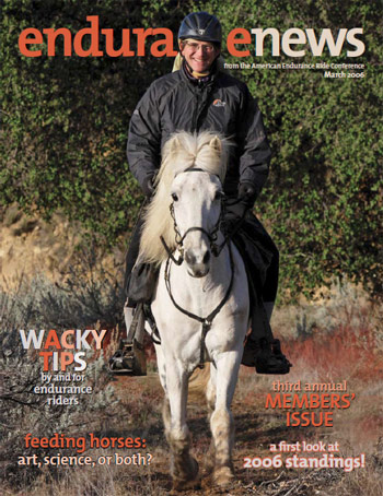 John and Remington featured on the cover of the March 2006 issue of Endurance News.