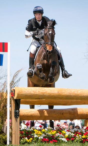 William Fox-Pitt, pictured here at the Kentucky CCI4*  on Bay My Hero, has a 10-point lead to win a fourth FEI Classics title going into Burghley.