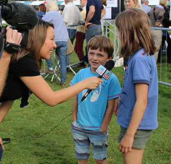 Zach and Lily Nicholson give an interview after their dad's big win.