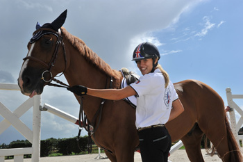 Jessica Mendoza at her new yard in Holland.