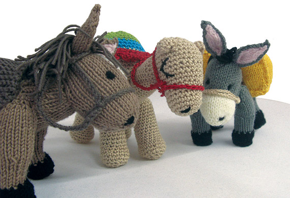 Knit Pattern For Donkey