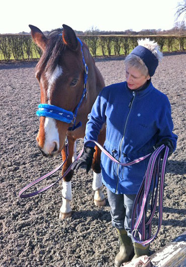 Barbara Schofield, who had a mishap on Figaro, is back riding again and rebuilding her confidence in the saddle.