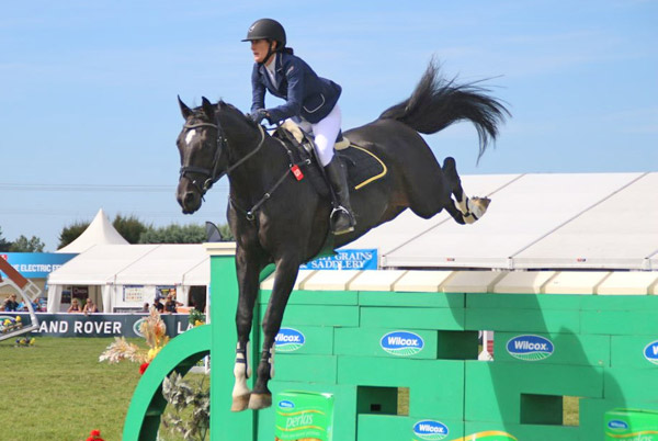 Claudia Hay and Euro Sport Centavos, who won the Olympic Cup at New Zealand's  Horse of the Year Show in Hastings on Sunday.