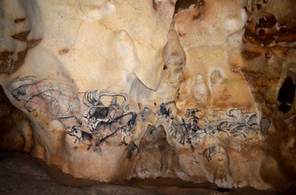 The Grand Panel of the End Chamber is one of the most abundantly decorated areas of the cave. Photo: Jean Clottes/Ministry of Culture and Communication.