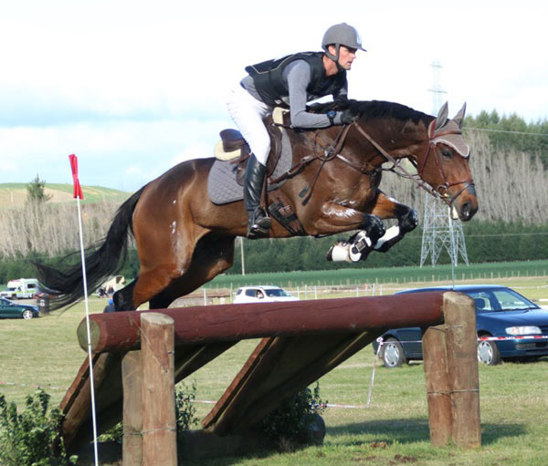 Andrew Daines and Spring Panorama, who are eighth in the CCI3* after the cross-country.