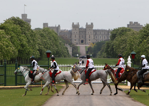Three riders from Bahrain shared the honours at the third Royal Windsor Endurance 120km CEI2* competition. First, second and third places were awarded equally to Sheikh Nasser Bin Hamad Al Khalifa, Sheikh Mohammed Bin Murbarak Al Khalifa,and Raed Mahmood, when they recorded the same finish time of five hours 33 minutes and 11 seconds. In fourth position, with a time of 05:45:02 was David Yeoman of Great Britain and fifth was Enora Boulenger of France in 06:00:10.