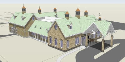 Artist's impression of Purdue University's new Centaur Regional Equine Diagnostic and Surgical Center.